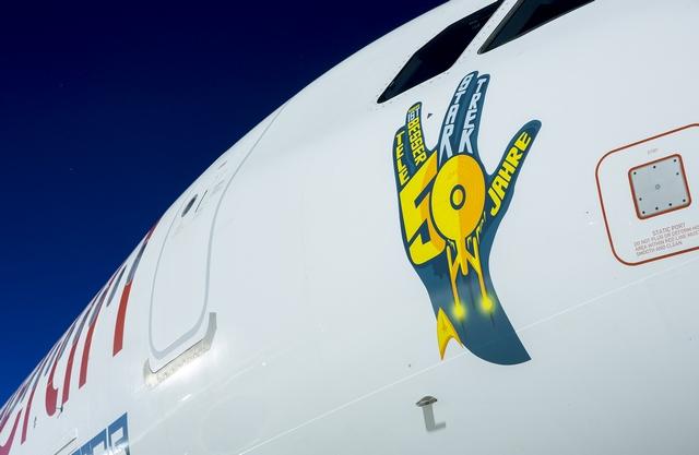 Немецкая авиакомпания украсила самолет в честь 50-летия сериала «Звездный путь»