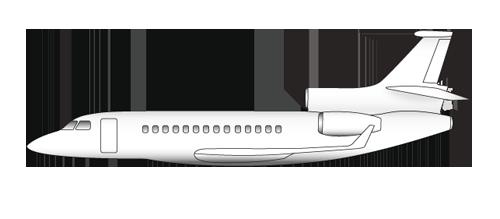 lx tqj falcon 7x t 0 1 0 - Самолет Falcon 7X