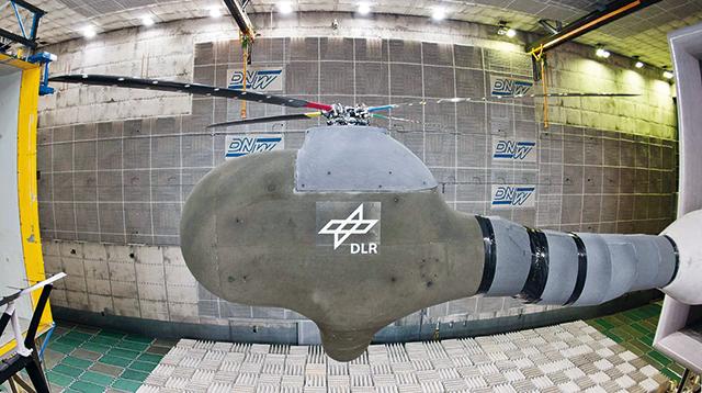 dlr rotor - DLR испытывает вертолетный ротор нового поколения