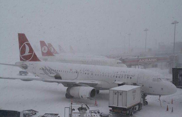 Новости авиации - снегопады парализовали аэропорты Стамбула