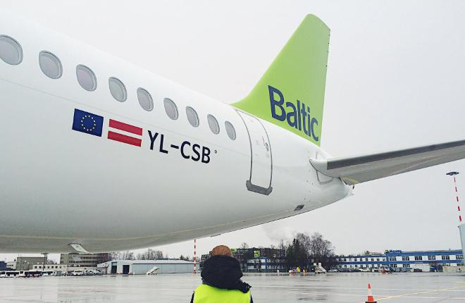 Авиаперевозчик «AirBaltic» получил второй борт «Bombardier CS 300»