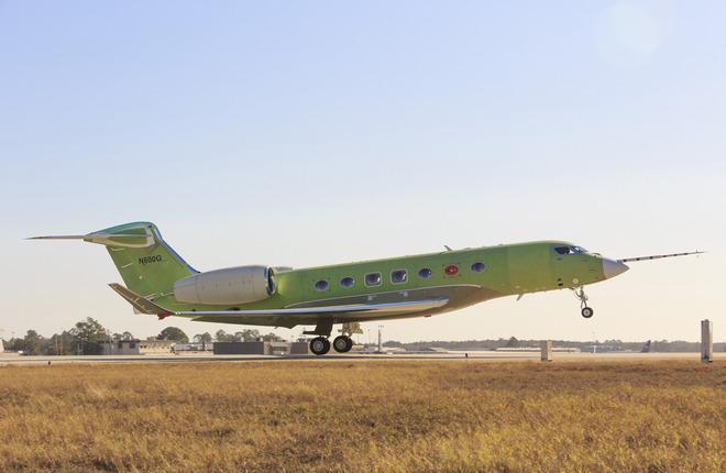 g600 73001 first flight 12.17.16 - Gulfstream Aerospace начал летные испытания новой модели G600