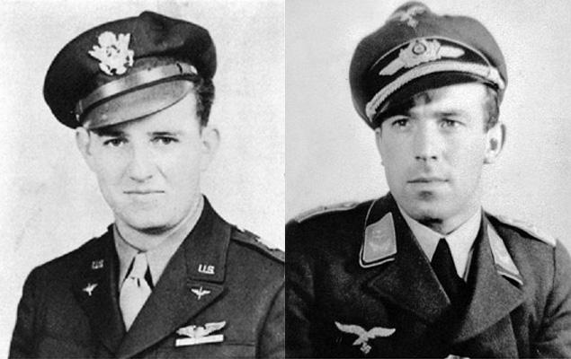 Новости авиации - немецкий летчик прикрыл американский бомбардировщик