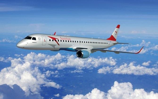 austrian - Ausrian Airlines начала эксплуатацию тринадцатого Embraer 195