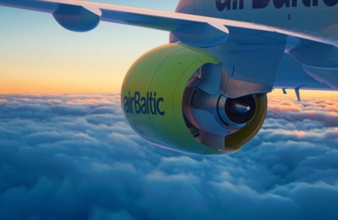 За год чистая прибыль «AirBaltic» сократилась до 1200000 евро