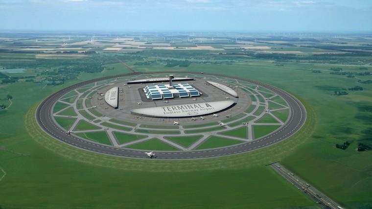 Голландский ученый  предложил строить круглые аэропорт