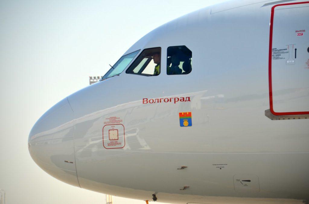 Авиалайнер перевозчика «Россия» назвали «Волгоград»