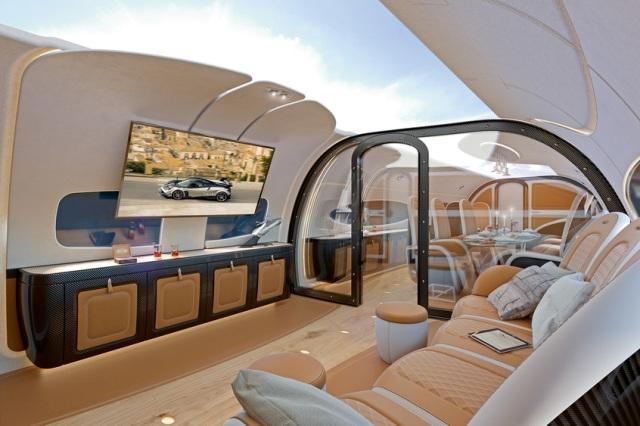 ACJ319 Infinito Cinema  - Пассажирский салон Infinito дял  Airbus Corporate Jets  от Pagani