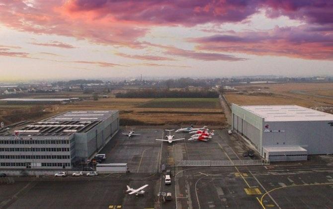 В аэропорту Нюрнберга возвели суперсовременный ангар для обслуживания самолетов
