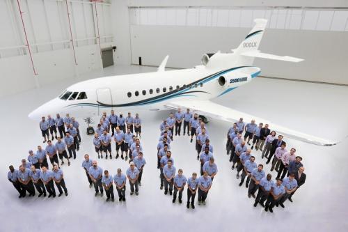 2500 - Юбилейный 2500-й самолет  семейства Falcon  передан заказчику