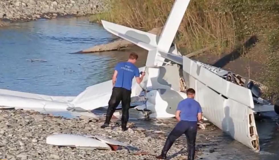 В Абхазии разбился самолет с россиянами на борту (Видео)