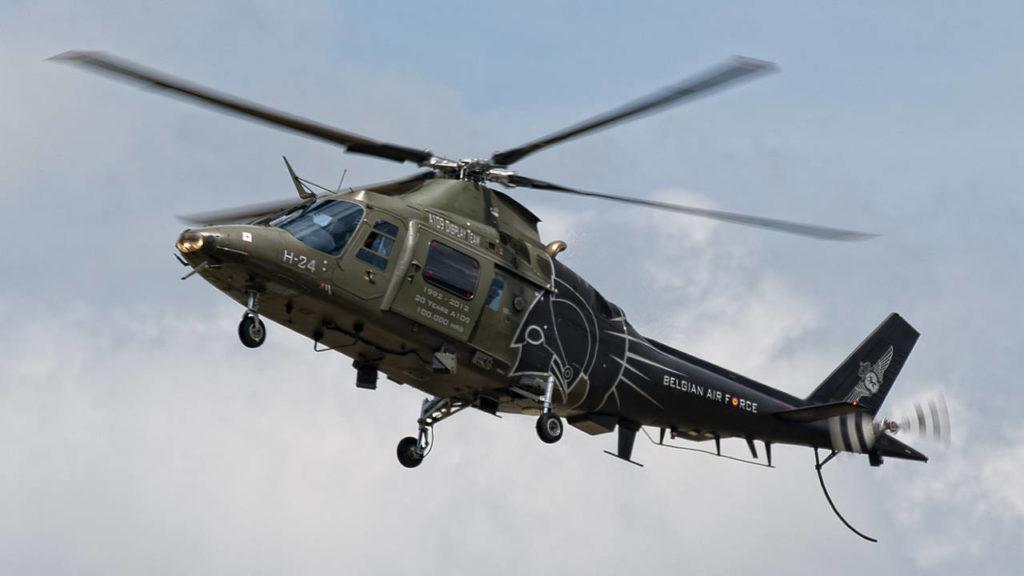 Agusta A 109 1024x576 - На авиашоу в Бельгии из кабины вертолёта выпал пилот