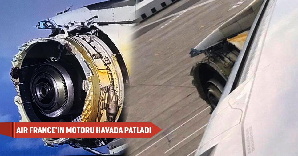 Air France - У Airbus 380 авиакомпании Air France во время полета развалился двигатель