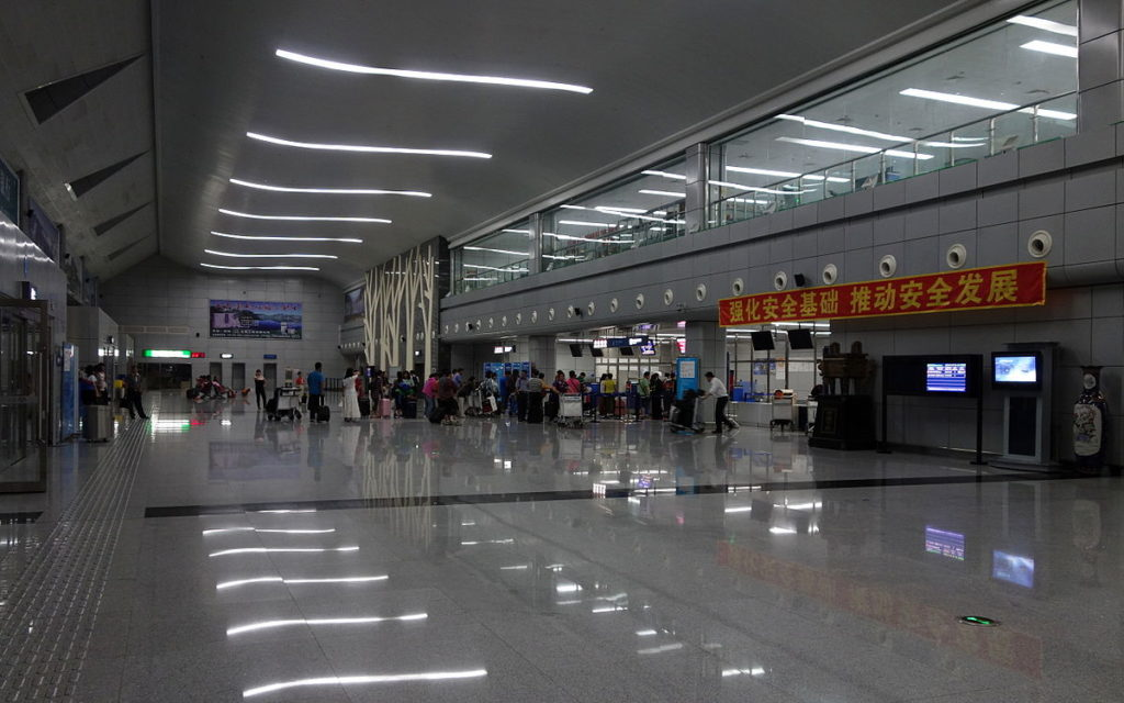 1200px Changbaishan Airport Hall 20130717 1024x640 - Аэропорт Чанбайшань Китай коды IATA: NBS, ICAO: ZYBS