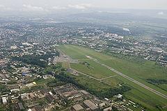 Аэропорт Черновцы (UKLN) вид сверху. Украина