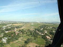 Аэропорт Черновцы. Украина. Заход на посадку в Черновцы ВПП33