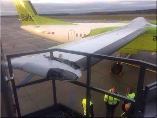 3da36649764c2c8fd2dfa14f5722c576 L - Авария чуть не лишила самолет «airBaltic» крыла