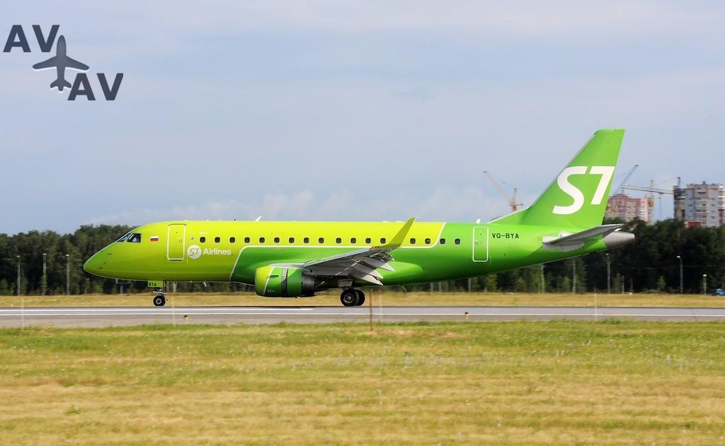 Embraer 170 S7 - Новые маршруты S7 Airlines коснутся Дании и Швеции