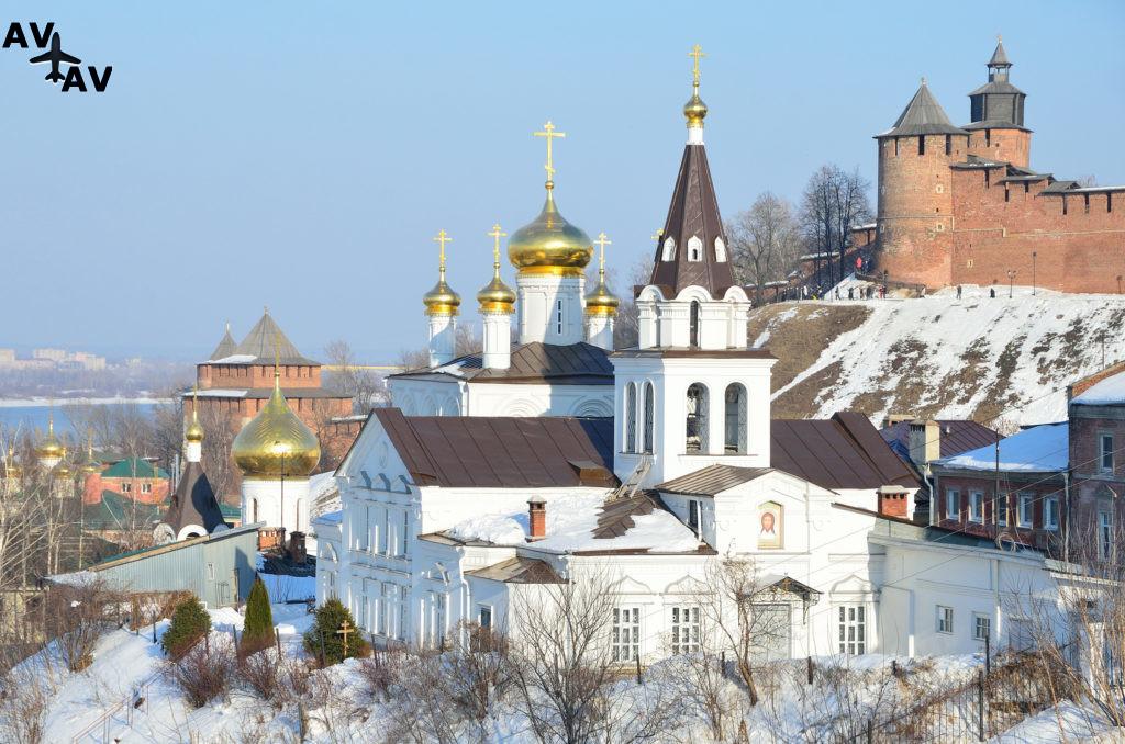 Церковь Ильи Пророка и Кремль. Нижний Новгород, Россия