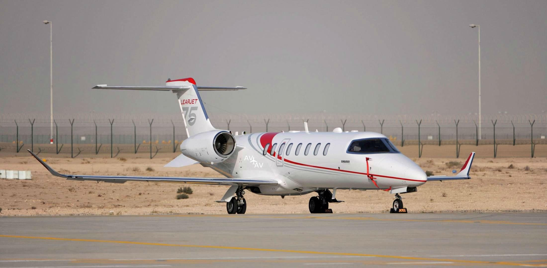 Learjet 75 - Learjet 75 появился в небе над Европой