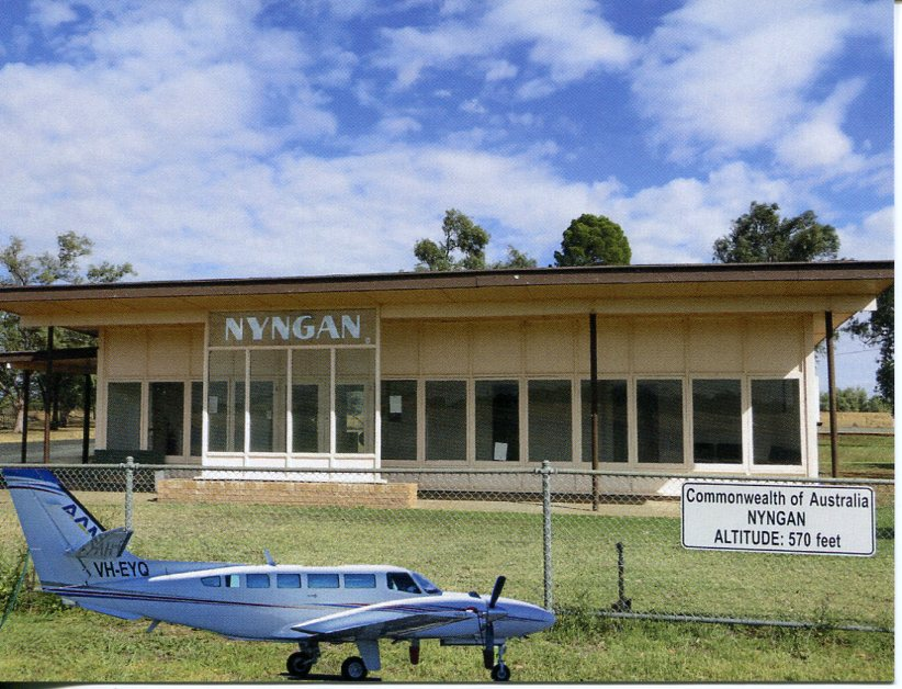 Nyngan Airport - Аэропорт Найнган Австралия коды IATA: NYN, ICAO: YNYN