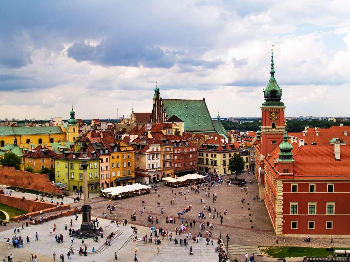 Old Town Square Warsaw Poland - Достопримечательности Варшавы
