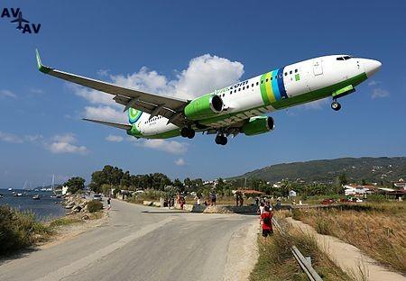 Transavia Airlines Boeing 737 800 at Skiathos - Аэропорт Скиатос - Skiathos  - LGSK (JSI), Alexandros Papadiamandis