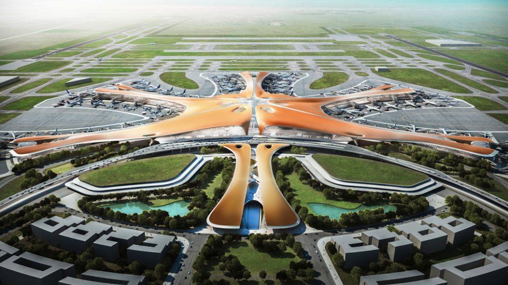 beijing new airport headquarters zha 1024x574 - Аэропорт Пекина станет самым большим в мире