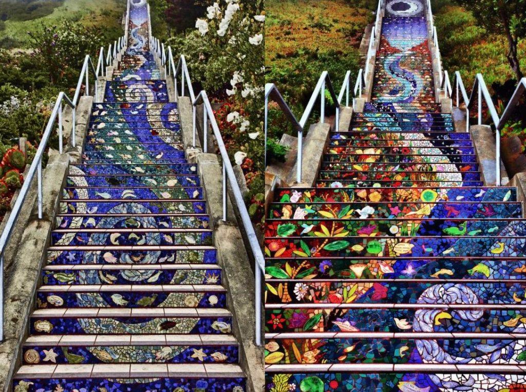 Самые интересные мозаичные лестницы мира