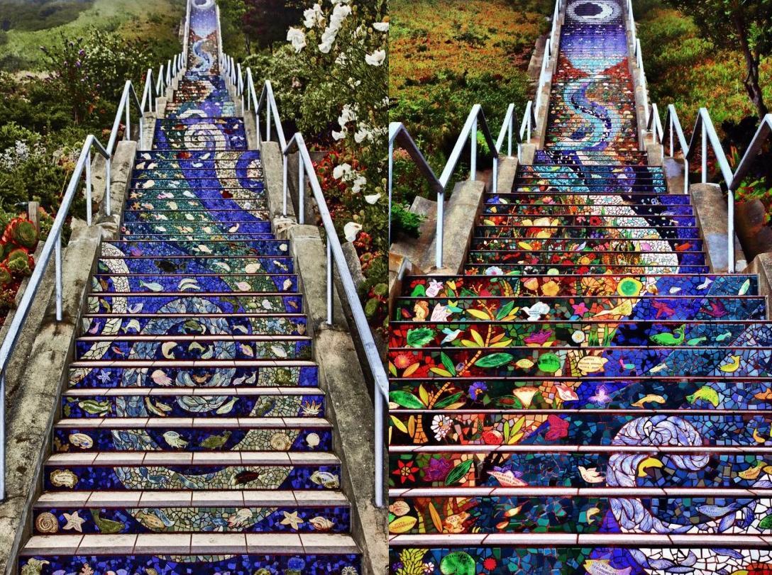 eaeb9d1febe05cff69f30dcd75244cb1 - Самые интересные мозаичные лестницы мира