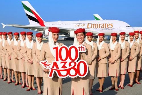 emirates - Сотый  Airbus A380 для авиакомпании Emirates