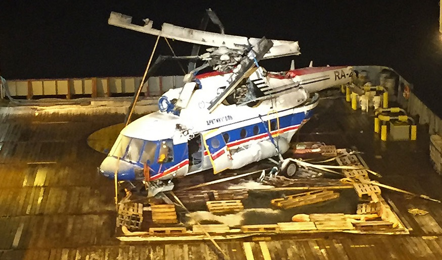 mi8 - Разбившийся Ми-8 поднят со дна Северного Ледовитого океана