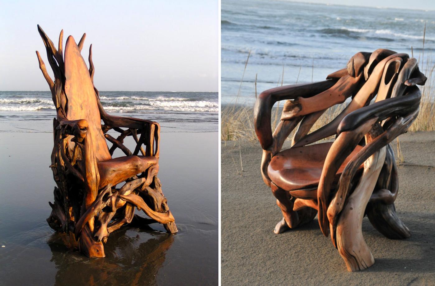 ya37 - Скульптуры из коряг, созданные Джефро Уиттом