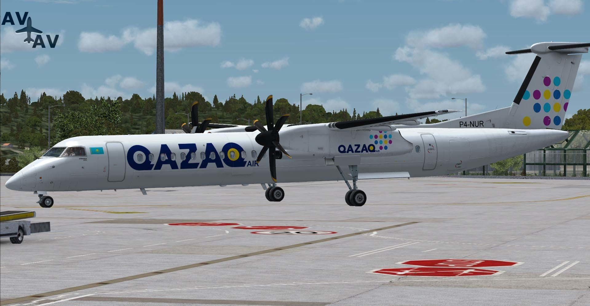 1 1 - Qazaq Air приобретет два Bombardier Q400NG