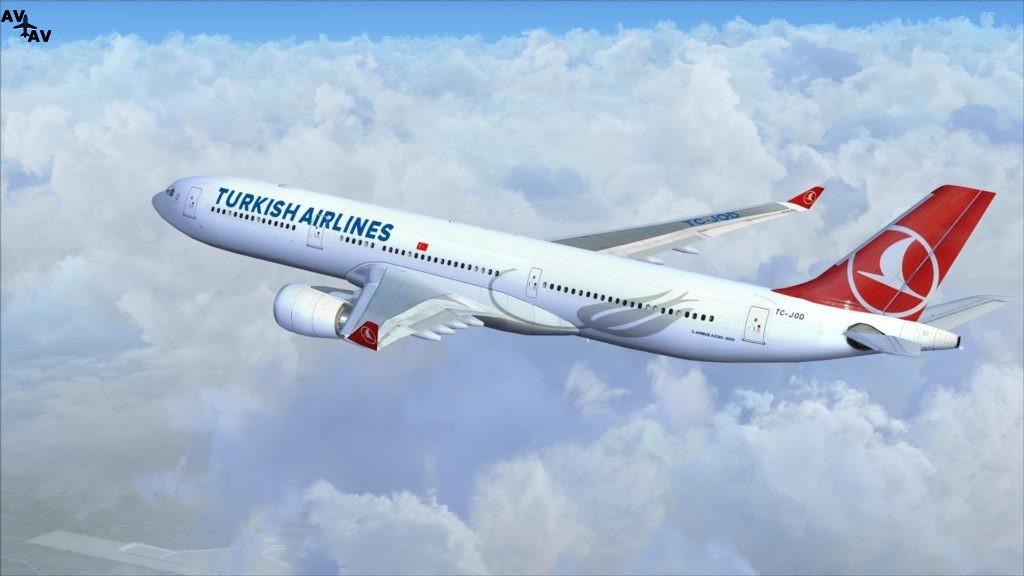 2017Aviation Airbus Turkish Airlines Airlines A330 flies over the white clouds 111709  1024x576 - ВИДЕО: Первый грузовой самолёт B777 компании Turkish Airlines вступает в состав флота