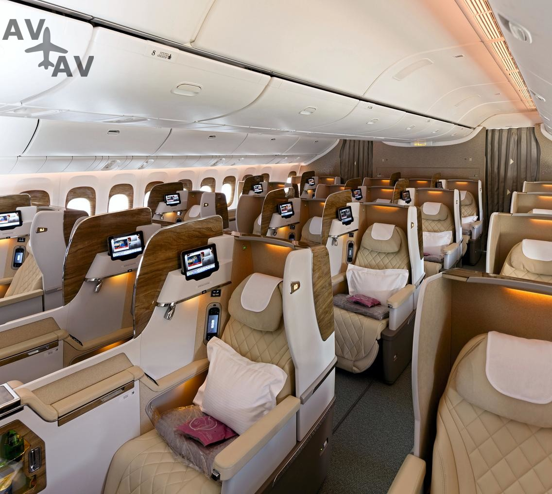 Business Class Cabin on Boeing 777 300ER - На рейсах Emirates будет летать новый Boeing 777