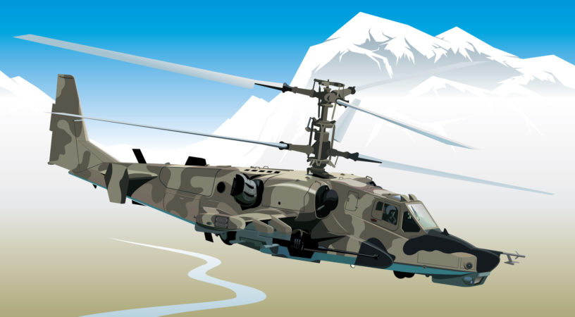 Fotolia 18422803 Subscription Monthly M 816x450 - Вертолет ЧернаяАкула:ка-50 - Вертолет Ка-50 - Черная акула. Ka -50 - Black Shark Helicopter. Attack helicopter. Hokum (Black Shark) Russia.