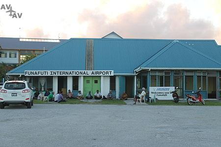 Funafuti International Airport terminal building - Аэропорт Фунафути - Тувалу -  Funafuti International Airport - FUN - NGFU