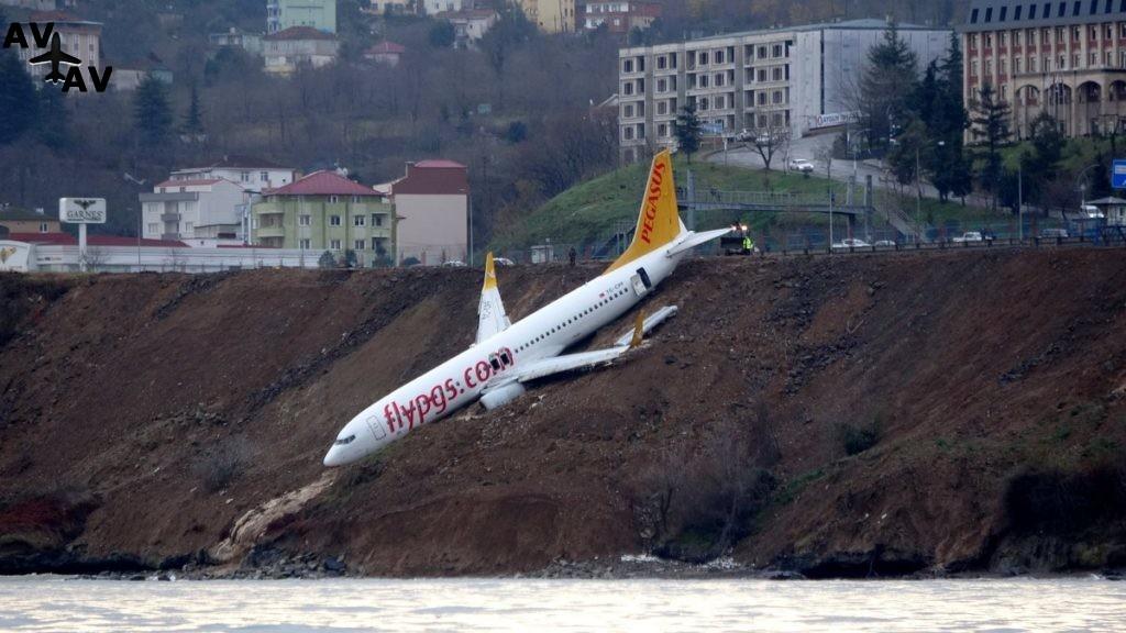 1515935539 5600 1024x576 - Boeing выкатился с посадочной полосы и завис над морем