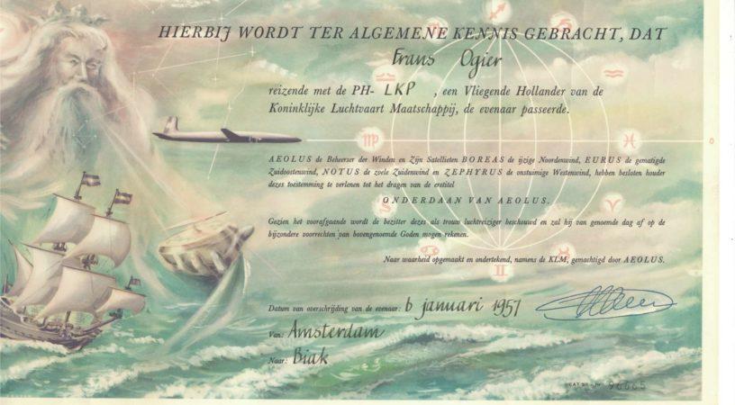 В давние времена, когда полеты на самолетах не были столь обыденны, авиакомпании баловали своих пассажиров различными неординарными подарками и сувенирами. Ниже два примера, касающихся пересечения экватора... более 50 лет назад. Первый сертификат был получен в 1964 году, когда мне было всего несколько лет, во время полета на борту Ту-104 чехословацкой авиакомпании. К сожалению, не помню ни номера рейса, ни бортового номера самолета, ни его дальнейшей судьбы. А жаль. Но выглядел он так: Второй раз мне пришлось пересечь экватор в 1965 году, в этот раз на борту четырехлетнего на тот момент самолета Duglas DC-8-53, имевшего бортовой знак PH-DCI, и принадлежавшего авиакомпании KLM (часть этих данных приведена на сертификате). По этому случаю экипаж выдал всем пассажирам свидетельства. Копия одного из них приведена ниже. Сам самолет оказался живучим и его снимки, конкретно борта № PH-DCI, можно найти в интернете. Как следует из небольшого интернет-расследования, авиалайнер сменил несколько владельцев, в том числе летал в раскраске венесуэльской авиакомпании VIASA, куда воздушное судно попало в 1975 году. В 1985-м его приняла компания International Air Lease, а еще через несколько лет самолет был отправлен в металлолом. Когда в 1996 году я вновь пересек экватор, и также в обе стороны, то уже никаких сертификатов никакими авиакомпаниями не выдавалось. Экономия бумаги? Не думаю. Просто такие путешествия потеряли дух первооткрывательства, эксклюзива, стали рутиной. Постоянный читатель портала aviav.ru
