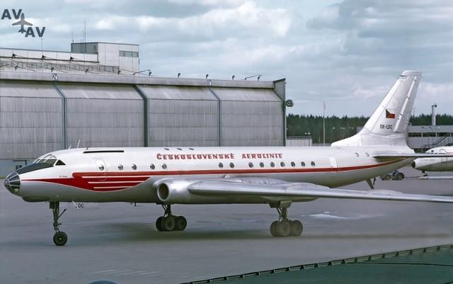 800px CSA Tu 104A OK LDC ARN May 1971 - Интересные факты из авиации: сертификат о пересечении пассажиром экватора