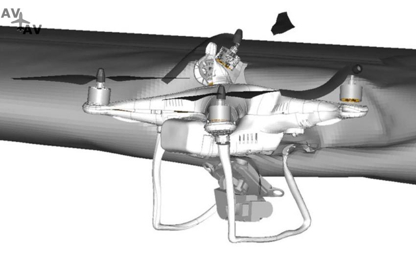 Quadcopter wing impact modelling - Опасны ли дроны для бизнес-джетов? Результаты исследований