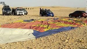 Названы причины падения воздушного шара с туристами в Египте