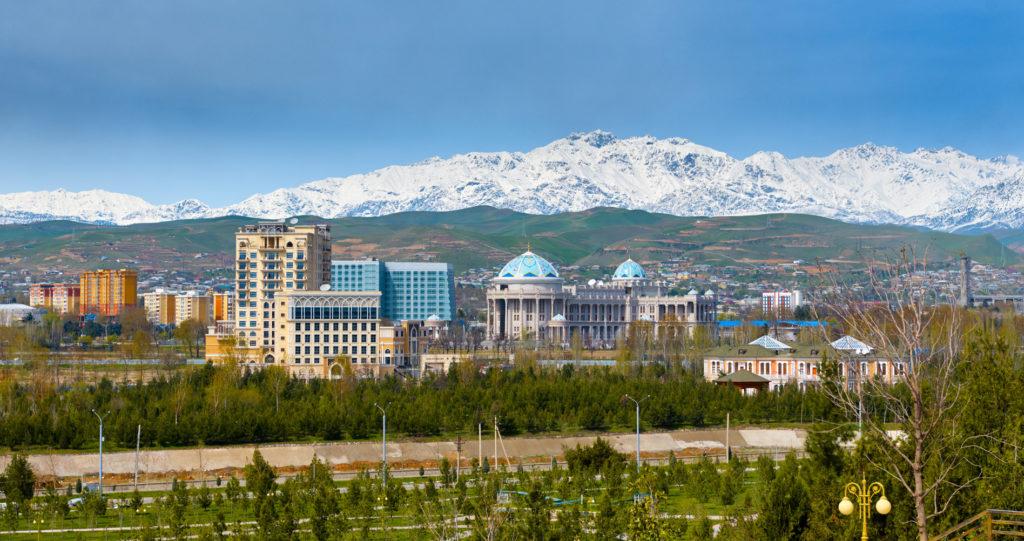 Душанбе. Таджикистан. View on the central square of Dushanbe, Tajikistan