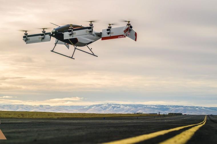 vahana airbus free big - Автономное аэротакси Airbus впервые совершило испытательный полет