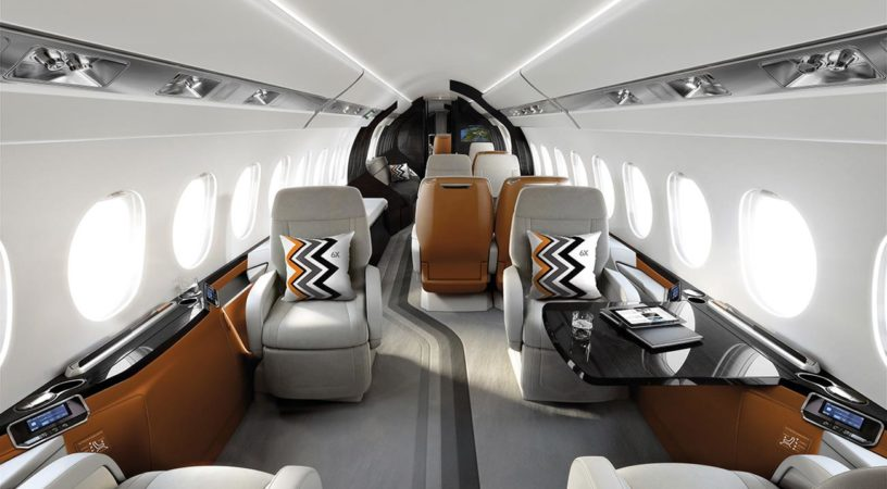 Новый салон Dassault Falcon 6X