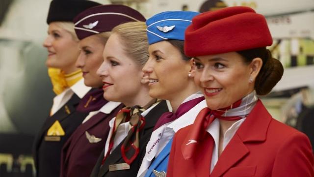 Lufthansa Group female crews - Женские экипажи на рейсах Lufthansa по случаю Международного женского дня