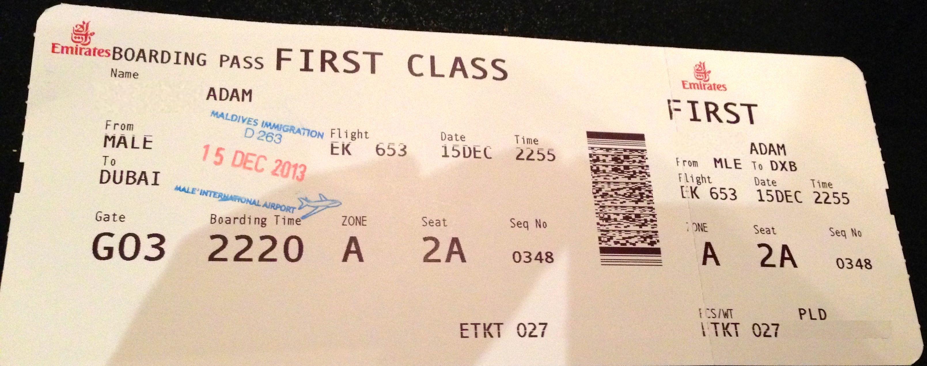dubai ticket fly - Билеты первый класс на самолет