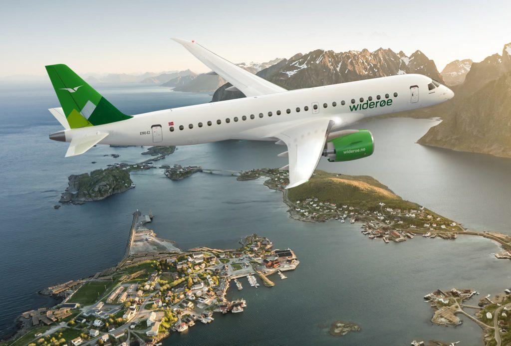 Авиакомпания Widerøe получила от Embraer первый E190-E2