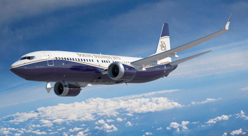 Летающий дворец. Знакомьтесь - Boeing Bussines Jet MAX 8!